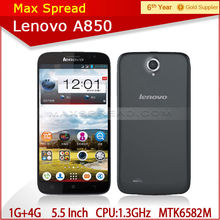 Newest Arrival Wholesale Lenovo A850 5.5 inch MTK6582 Quad Core Android 4.2 wholesale lots