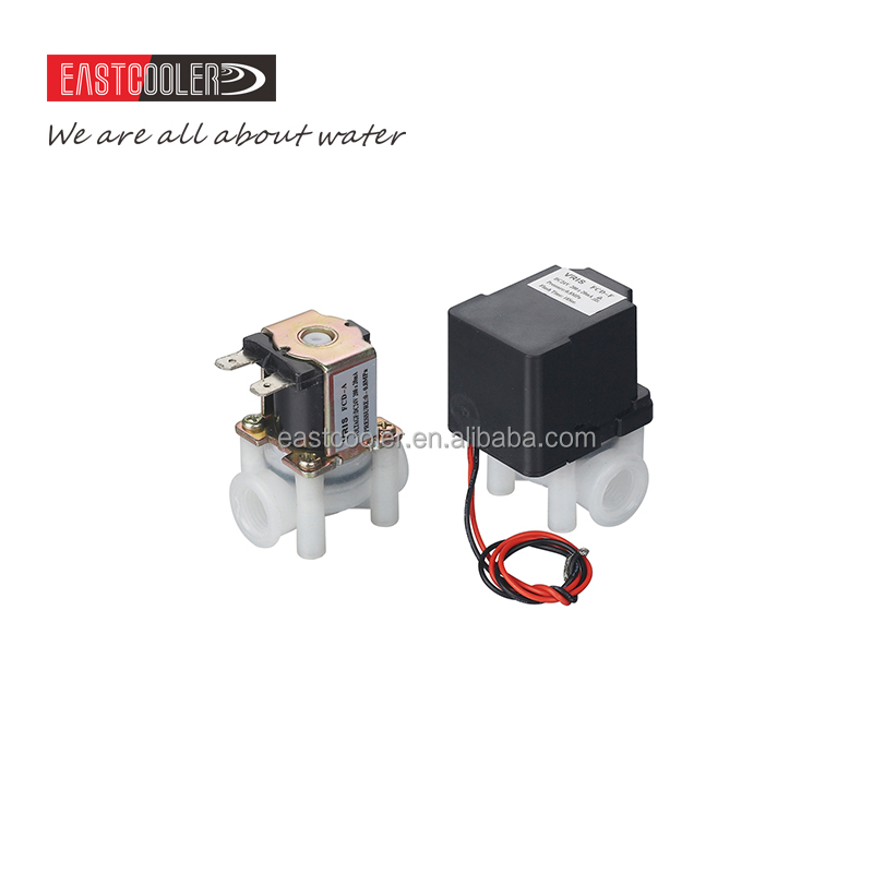 "EC-FD026 Eastcooler China 24V 1/4"" Inlet Feed Water Solenoid Valve for RO Reverse Osmosis Pure System"