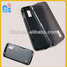 Clear Black Slim Fit Tpu Wiredrawing Line Flexible TPU Silicon Case for Google Nexus 4 E960 LG Phone