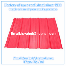 1130mm anti corrosion pvc roof/upvc roof sheet/asa roof