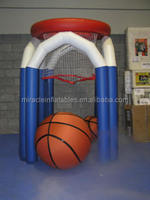 Custom desingn used inflatable bungee basketball hoop for kids M6022