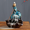 Hot Sale Waterfall Censer Holder Smoke Back Flow Cone Ceramic Incense Burner Backflow