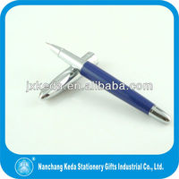 2014 high quality good for business blue fountain pen with fine golden nip