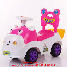 Multi-functional Plastic Kids Ride-on Car Child Pusher Toy Electric Baby Walker With Light and Music