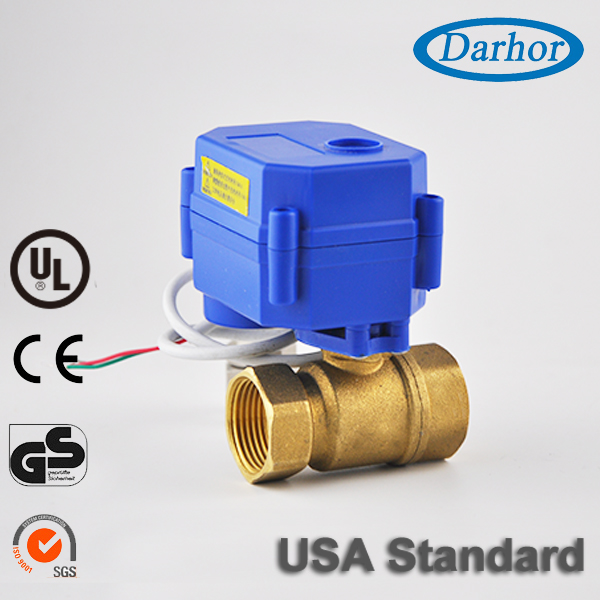 "1/2"" 3/4"" 1"" motorized ball valve for water"