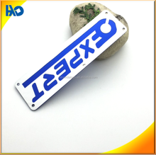 custom fashion decorative adhesive luggage tag metal nameplate