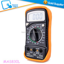 MASTECH Multimeter With Back Light , Mini Multifunctional Tester for Voltage Current Resistance Diodes Circuit Continuity