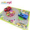 Hot selling puzzle vehicle set plastic puzzle tracks toy for kids