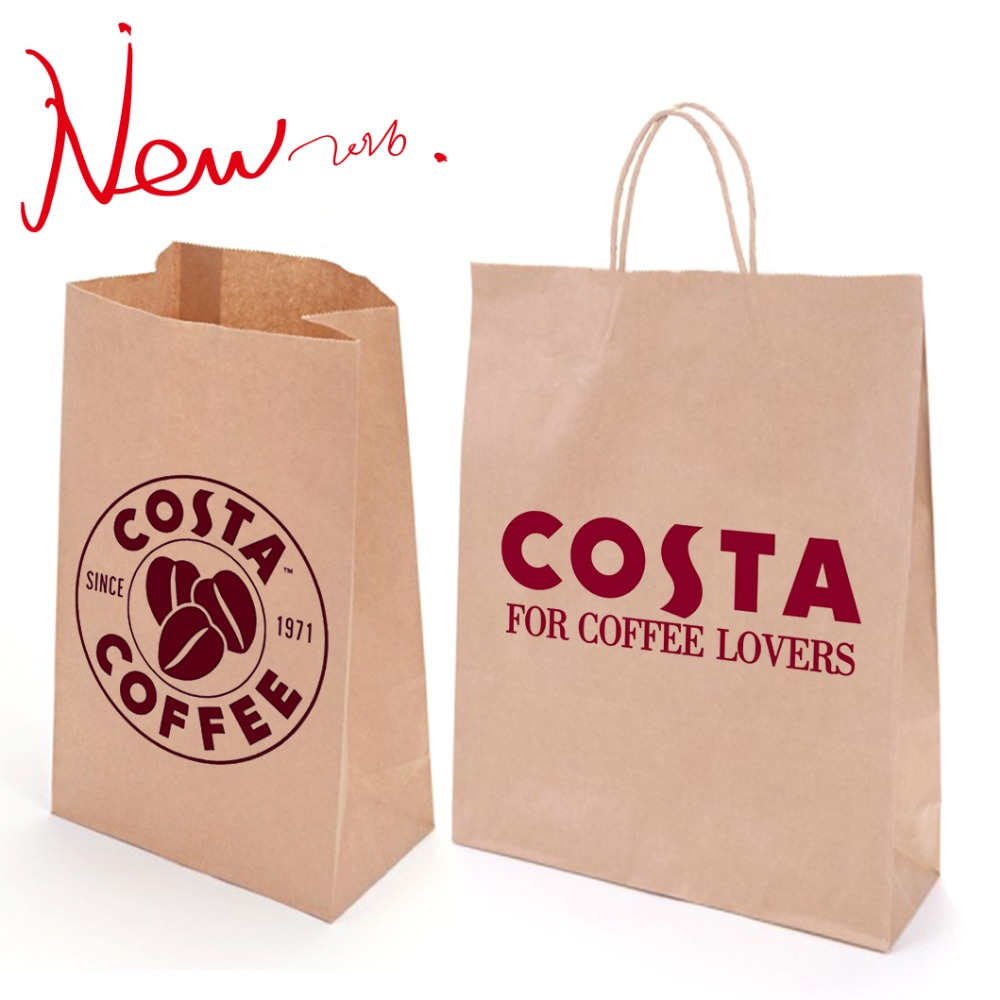China factory High Quality!!!Low price kraft brown paper bag for restaurant package and shopping