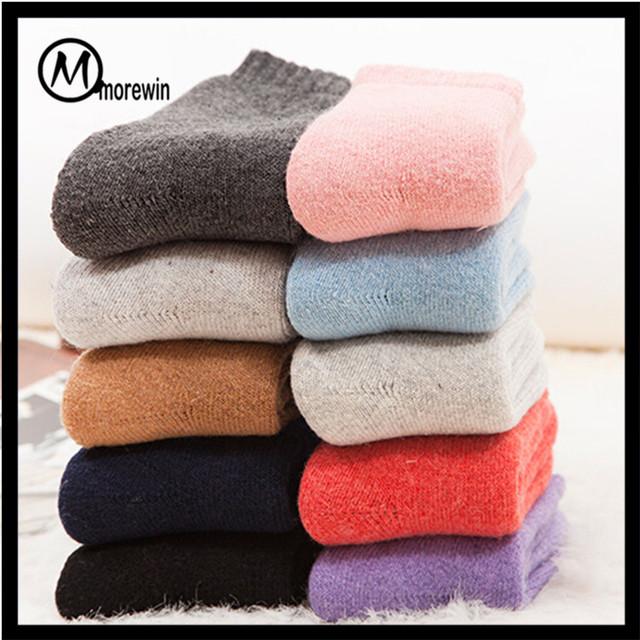 Morewin Men's Thick Cashmere Terry Socks Women's Floor Warm Socks