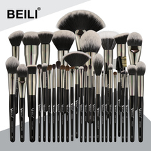 New BEILI makep <strong>brushes</strong> cosmetic wholesale 35 PCS Soft Natural synthetic hair Eyeshadow Concealer Liner makeup <strong>brushes</strong> set