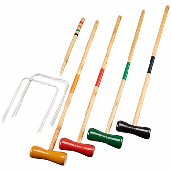 2017 hot sale Wooden toy halex classic 4 player croquet set