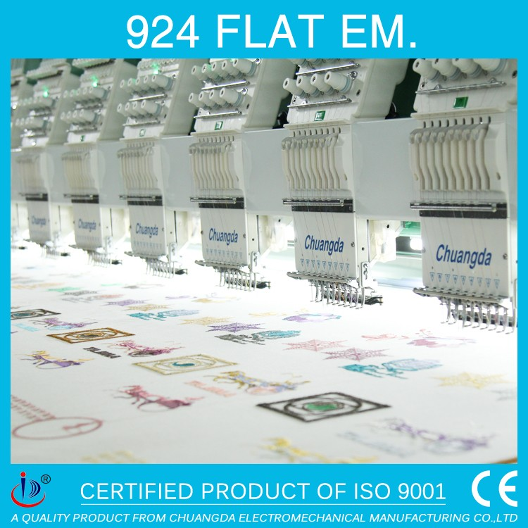 924 9 NEEDLE 24HEADS FLAT COMPUTERIZED EMBROIDERY MACHINE PRICES