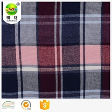 tekstil tela para colchones yarn dyed coton flannel fabric for cloth