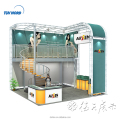 Detian offer China factory direct sale Advertising modular Double Deck Exhibition Booth Design
