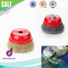 Custom Industry Crimped Mini Steel Wire Polishing Grinder Cup Brushes