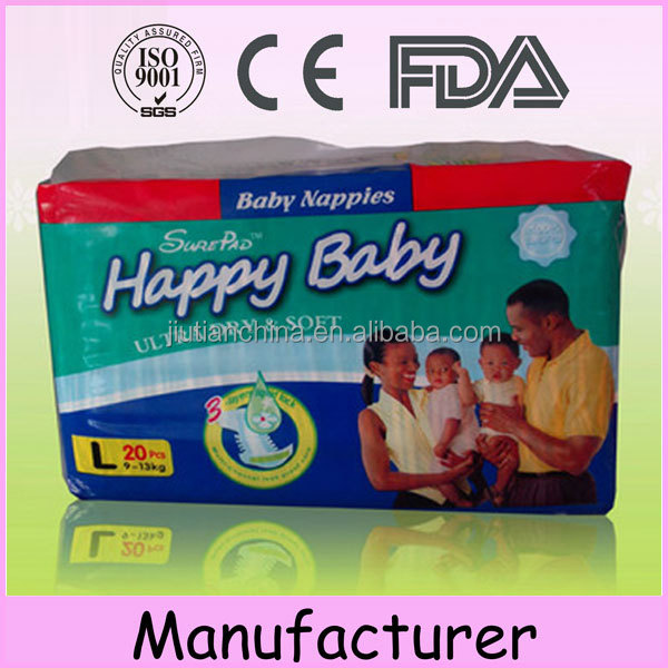 Own brand soft nice japanese quality wholesale India b grade china baby diaper pampering active baby diaper factory