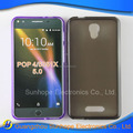clear Transparent tpu soft cell phone case for ALCATEL pop4 ot5051X tpu cover