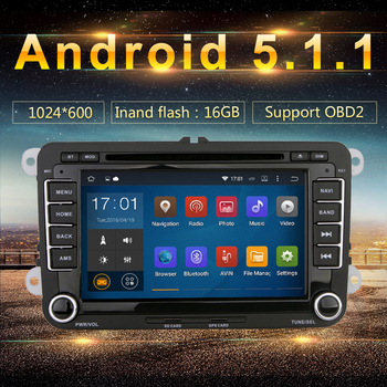 "Android 5.1.1 Car DVD 7"" HD 3G Wifi Android GPS for VW Volkswagen Golf 5 6 Polo Passat Tiguan Jetta EOS sharan amarok scirocco"