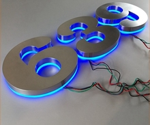 Flat Laser Cut High quality 3D Metal Led Letter Sign for Indoor Branding