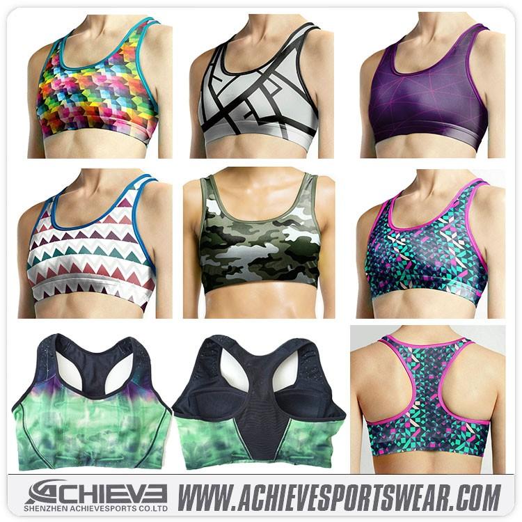 wholesale sport bra women sexy sublimation sports bra