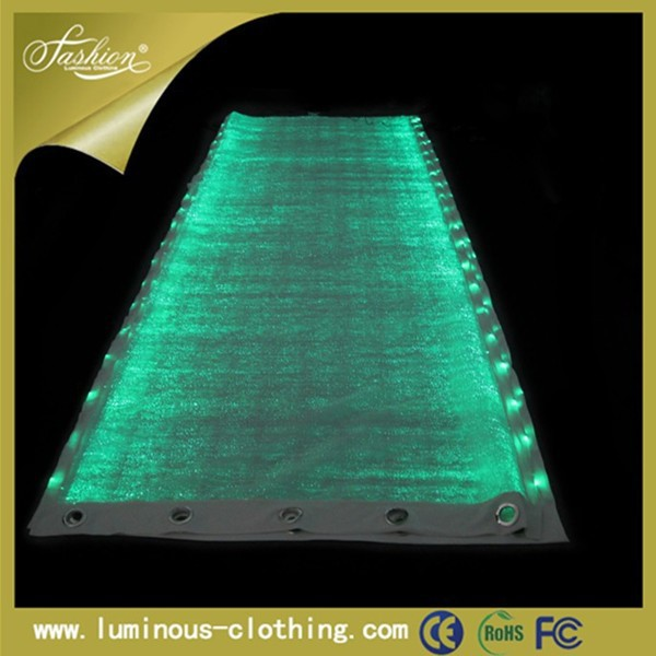 illuminant fiber optic window curtains with attached valance