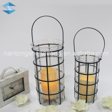 hanging recycled glass vintage candle lanterns