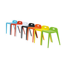 Office dining restaurant indoor outdoor padded kids stackable plastic chairs