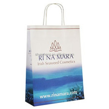eco printed cheap recycled machine made kraft paper bags manufacturer in china