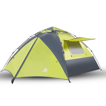 3-4 Person two doors Dome Quick Up Automatic Tent