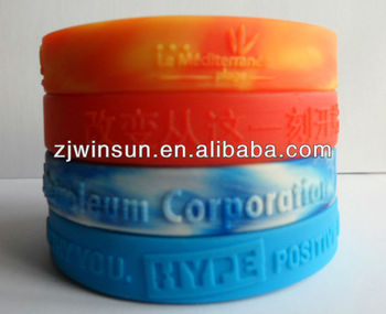 Embossed cheap silicone wristband