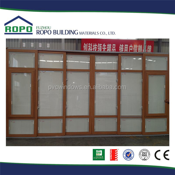 Eco-Friendly hot selling exterior glass louver door for living room