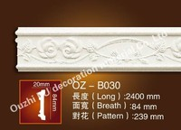 Interior PU Foam Polyurethane ceiling molding Decorative Crown Mouldings For wall