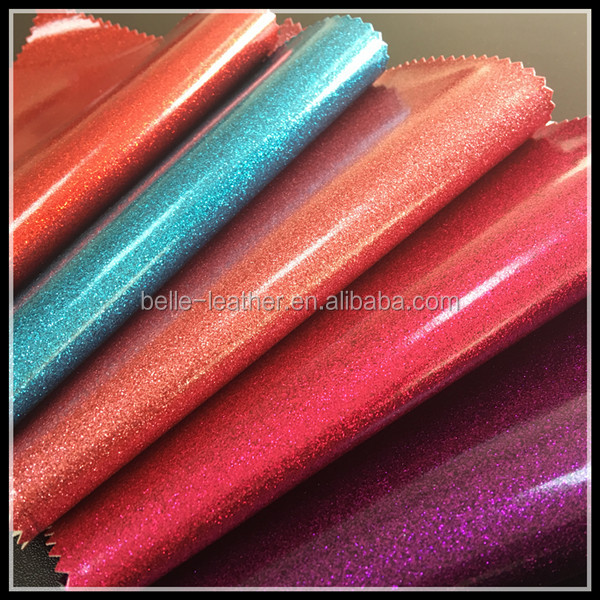 (BY1006)Hot Selling Soft Hand Feeling Glitter Vinyl Fabric