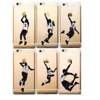 Wholesale Cheap sports basketball crystal clear TPU silicone soft phone case for iphone 6S plus with creative design