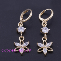 indian 22k 24k latest models of light weigh rolled gold hanging cubic zircon earrings designs