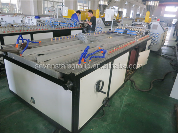 Pvc wpc doors and windows board production making machine
