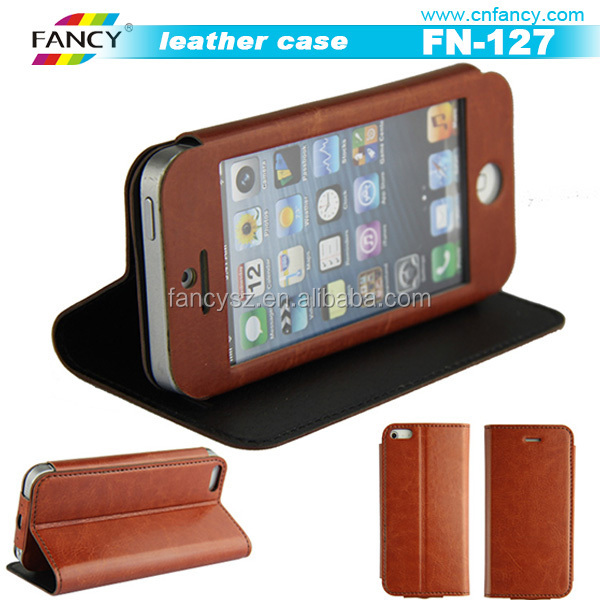 New arrival best sale smartphone leather flip case cover for Sangsung Galaxy S6