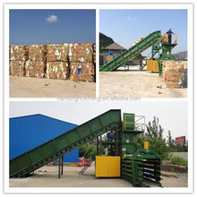 Extremely strong waste paper/cardboard automatic horizontal baler compress machine