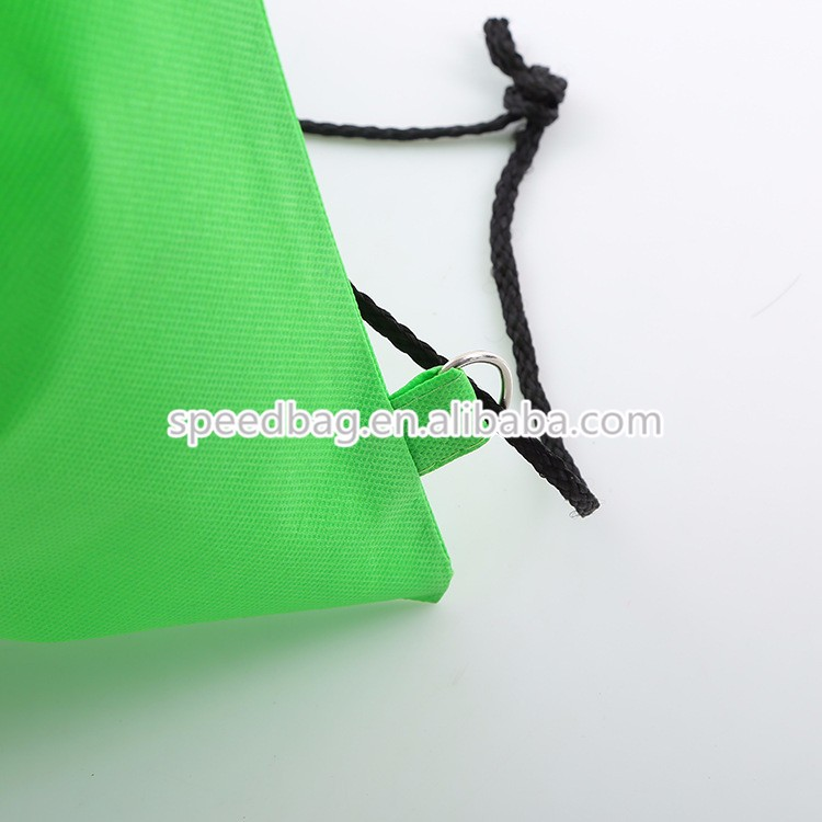 China supplier printing acceptable promotional non-woven sports drawstring shoe bag
