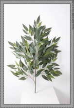 LT091618 Hot sale indoor or outdoor garden home decorative artificial mango leaf branch made in China