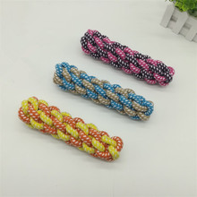 Dog Woven Corn Cobs Rope Knot Chew Teeth Clean Toy