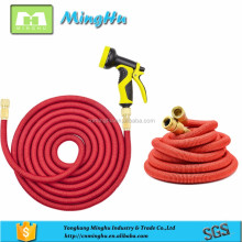 Automatically magic flexible stretch hose with brass fittings