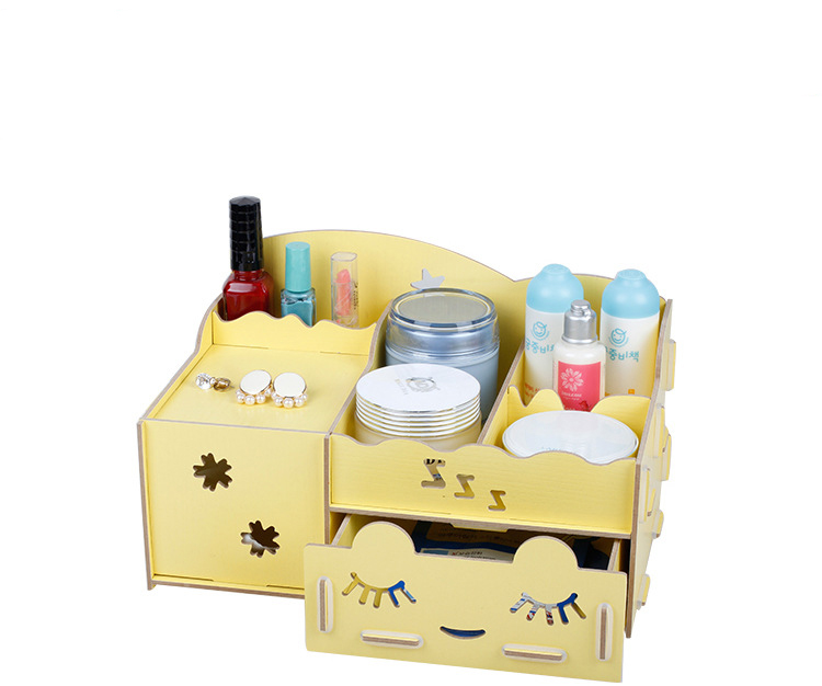 Aromatic cabin 2015 creative household items wooden drawer jewelry box desktop finishing storage box  makeup clear drawers