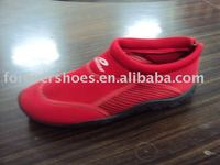 Latest style aqua men shoes,red color shoes,beach shoes