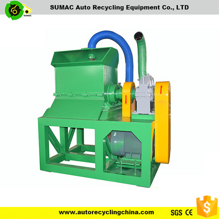 Good quality waste tyre/rubber rotating /rotary crusher with CE