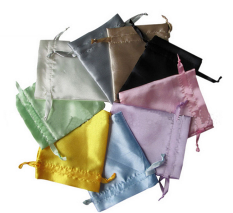 High quality satin drawstring jewelry bag for gift bracelet necklace accessories pouch\bag customize wholesale