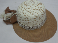 Wholesale 100% paper plait women straw hat
