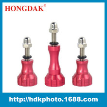 Free design package CNC Aluminum Stainless Thumb Knob Bolt Nut Adjusting Screw Set for GoPro HD Hero 1 2 / 3 / 3+ 4 RED