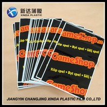 Promo tote die cut 50mic bags handle easy type fashionable for apparel with hang hole